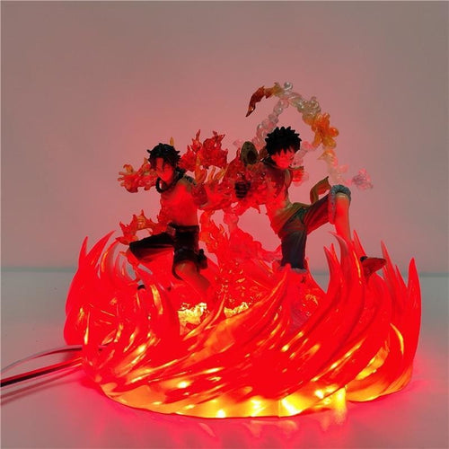 Luffy Et Ace Figurines LED - One Piece