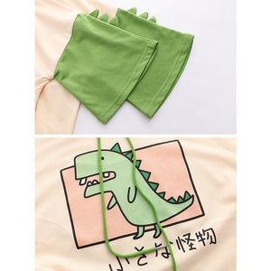 Sweat Kawaii Dinosaure Manches Courtes