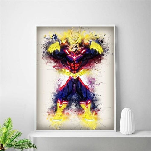 Poster Mural En Soie All Might - My Hero Academia - 20x30cm / 5