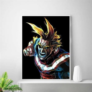 Poster Mural En Soie All Might - My Hero Academia - 20x30cm / 6