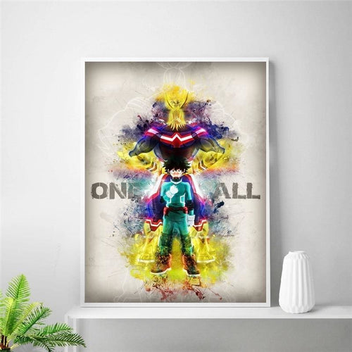 Poster Mural En Soie One For All - My Hero Academia