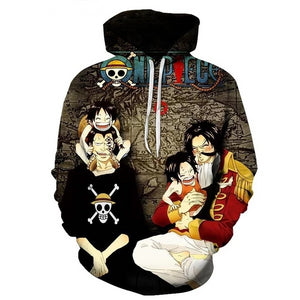 Sweat One Piece Roger Et Dragon Les Parents-Saiyan Spark