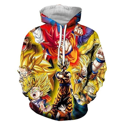Sweat DBZ Transformations De Son Goku-Saiyan Spark