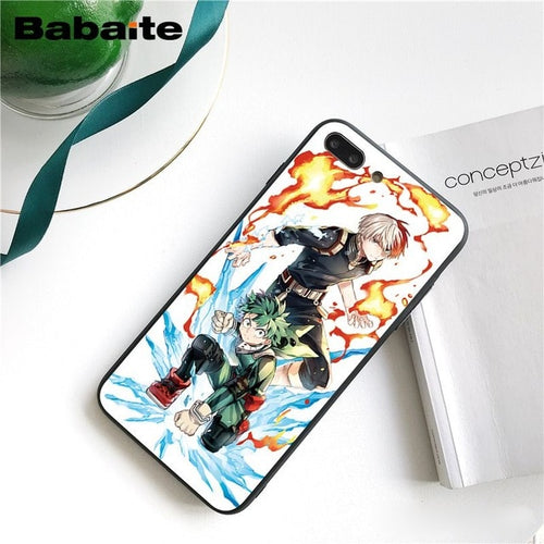 Coque My Hero Academia iPhone Shoto Et Izuku-Saiyan Spark