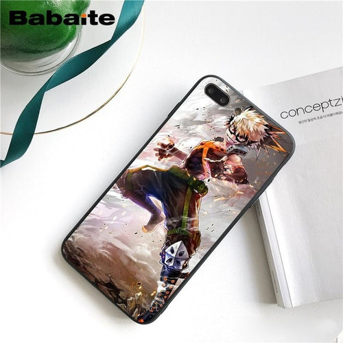 Coque My Hero Academia iPhone Bakugo Art-Saiyan Spark