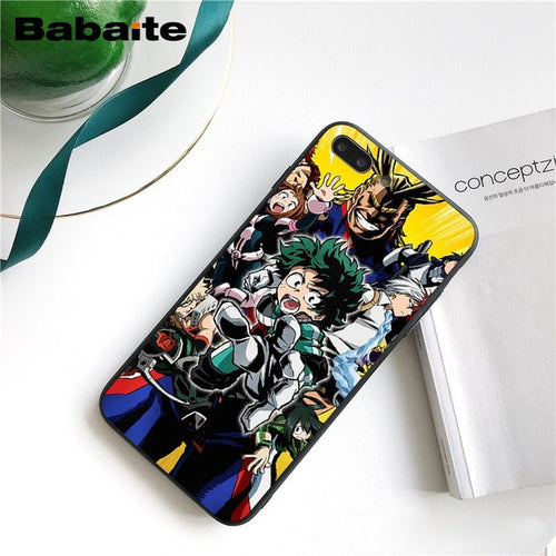 Coque My Hero Academia iPhone Tous Ensemble-Saiyan Spark