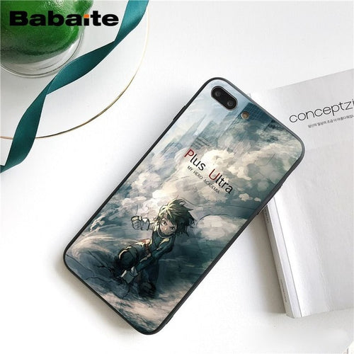 Coque My Hero Academia iPhone Plus Ultra Deku-Saiyan Spark