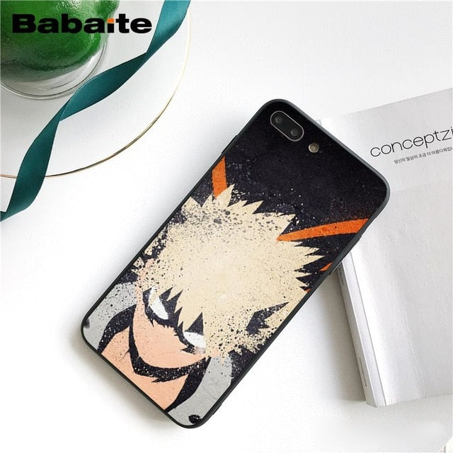 Coque My Hero Academia iPhone Bakugo Style-Saiyan Spark