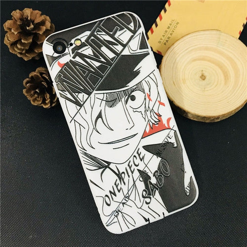 Coque One Piece iPhone Sabo Sketch-Saiyan Spark