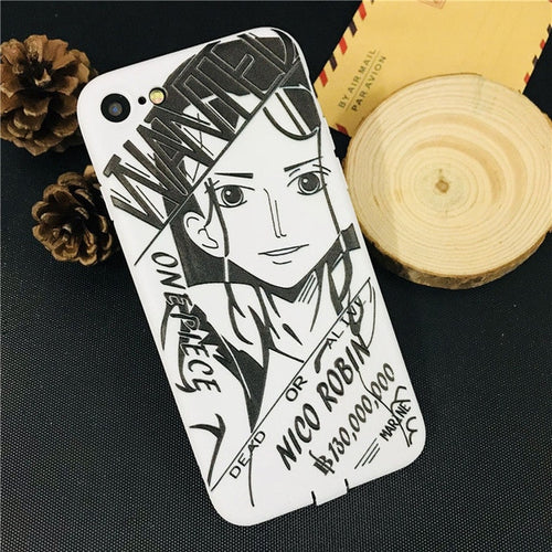 Coque One Piece iPhone Robin Sketch-Saiyan Spark