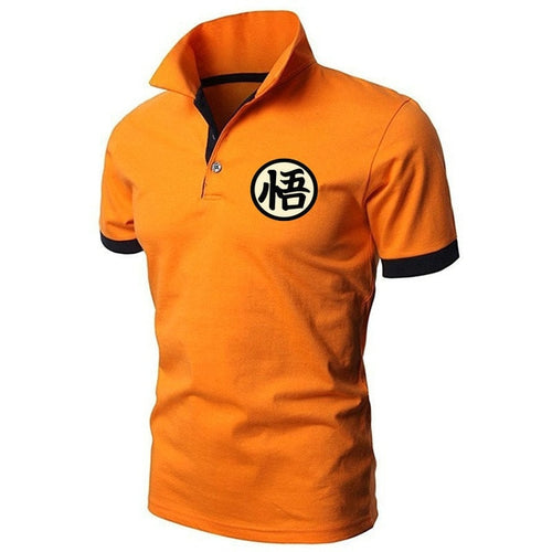 Polo DBZ Kanji Goku Go (t-shirt orange)