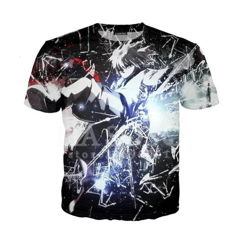 T-shirt Hunter x Hunter Killua Attaque Éclair-Saiyan Spark
