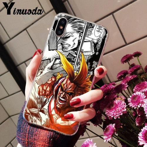 Coque My Hero Academia iPhone All Might Manga Smash-Saiyan Spark