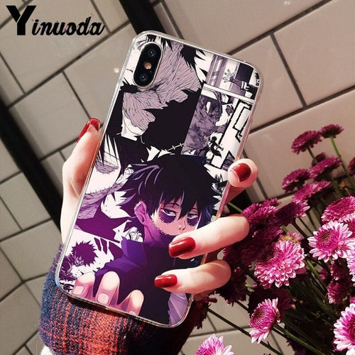 Coque My Hero Academia iPhone Dabi-Saiyan Spark