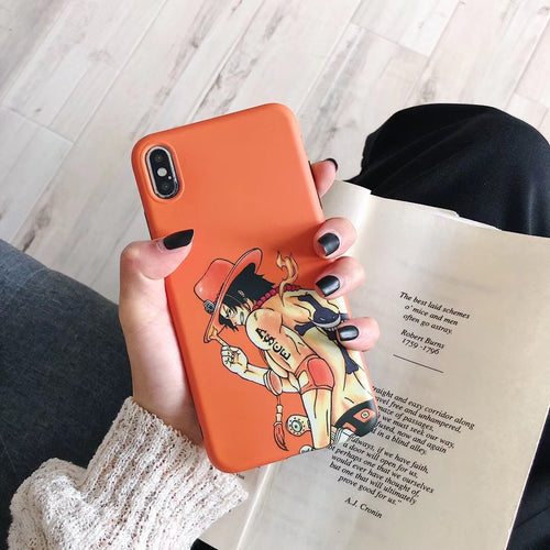 Coque One Piece iPhone Ace Orange-Saiyan Spark