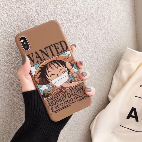Coque One Piece iPhone Wanted Luffy-Saiyan Spark