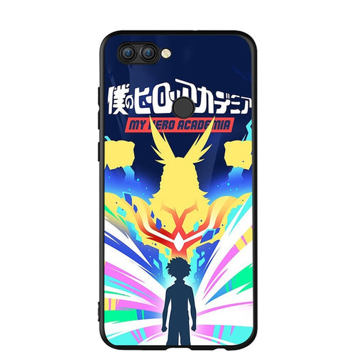 Coque My Hero Academia Huawei All Might Et Izuku En Couleur-Saiyan Spark