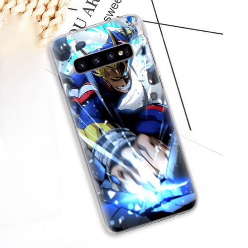 Coque My Hero Academia Samsung All Might Smash-Saiyan Spark