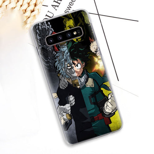 Coque My Hero Academia Samsung Héro Contre Méchants-Saiyan Spark