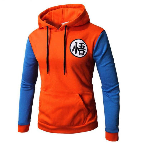 Sweat DBZ Logo Go - Orange bleu / M