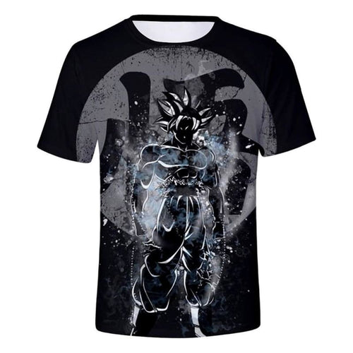 T-shirt Dragon Ball Super - Goku Ultra Instinct Art 3D - Saiyan Spark