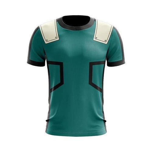 T-Shirt My Hero Academia Deku - Green / S
