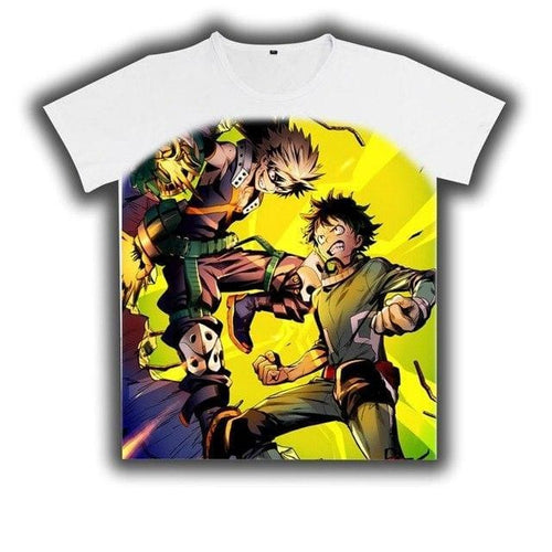 T-Shirt My Hero Academia Izuku Vs Katsuki - 6 / L