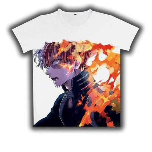 T-Shirt My Hero Academia Shoto - 4 / L