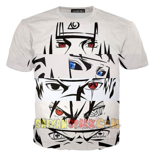 T-Shirt Naruto - Regards Déterminés