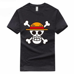 T-Shirt One Piece Emblème Mugiwara - Black B / S