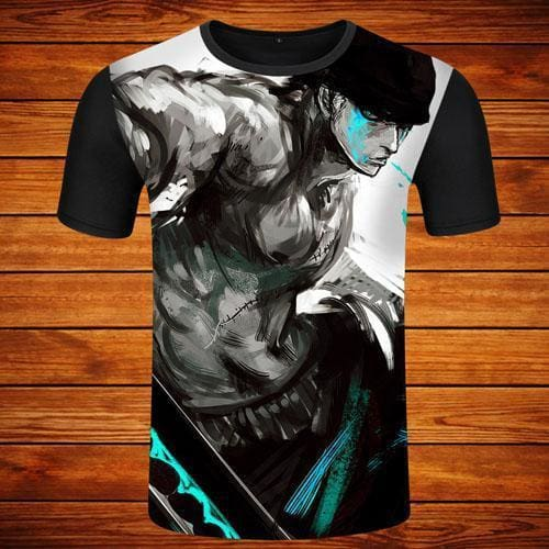 T-Shirt One Piece Zoro Art - T-Shirt / S