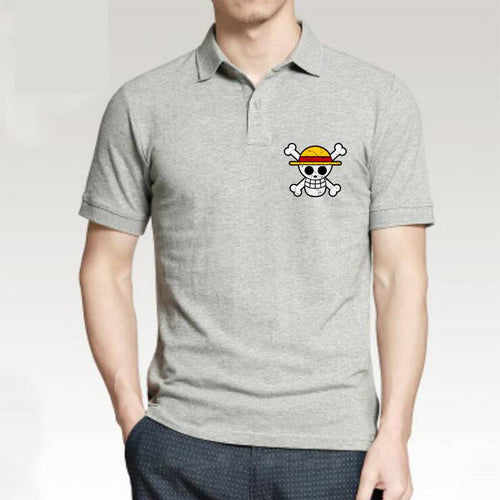 Polo One Piece Logo Mugiwara (t-shirt en 5 couleurs)-Saiyan Spark