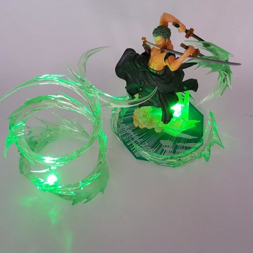 Zoro Santoryu Figurine LED v2 - One Piece