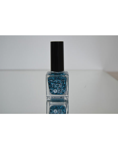 Neglelak snow effect , blå 15 ml.