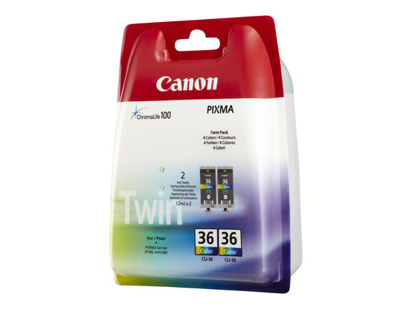 Canon CLI 36 Twin Pack Farve (cyan, magenta, gul) 249 sider