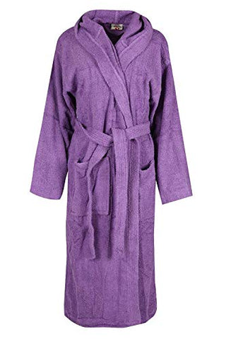 Adamtrade Luxury Men and Women Hooded Bath Robe Terry Towelling Light-Weight 100% Cotton Highly Absorbent
