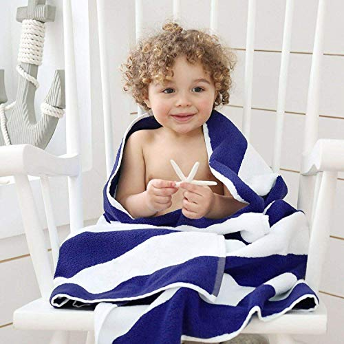 Adamtrade Less-Weight 100% Egyptian Cotton Pool Towel Cabana Stripe - Maximal Softness and Absorbency