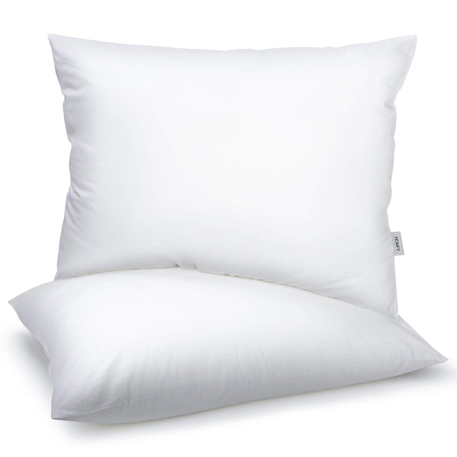 Cotton Pillows, Bed Pillows 2 Pack, Medium Firmness, Hypoallergenic and Dust Mite Resistant (White, 50X75CM)