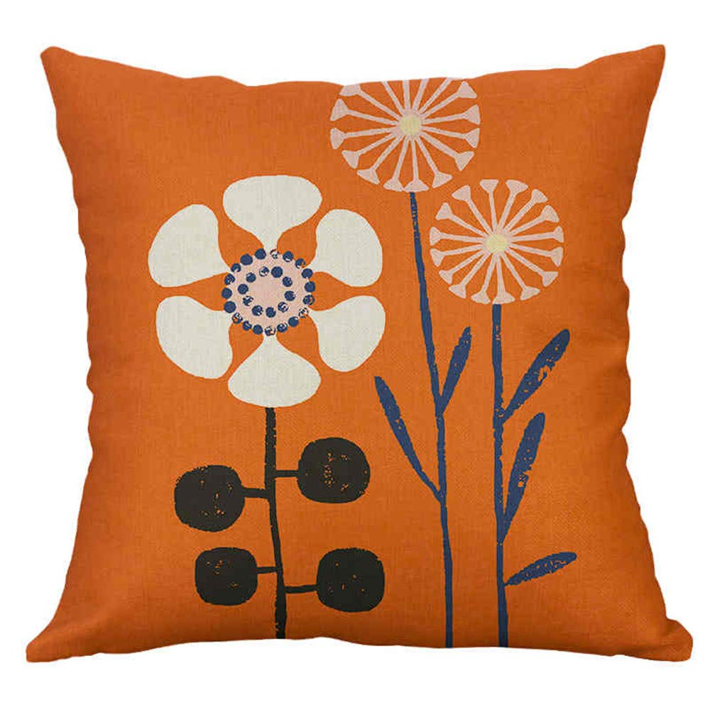 Flowers Cushion Covers 18x18 Cotton Linen Throw Pillow Covers 45cm x 45cm