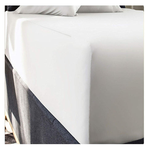 "rejuvopedic 16"" Extra Deep King Size SNOW Fitted Sheet In Egyptian Cotton"