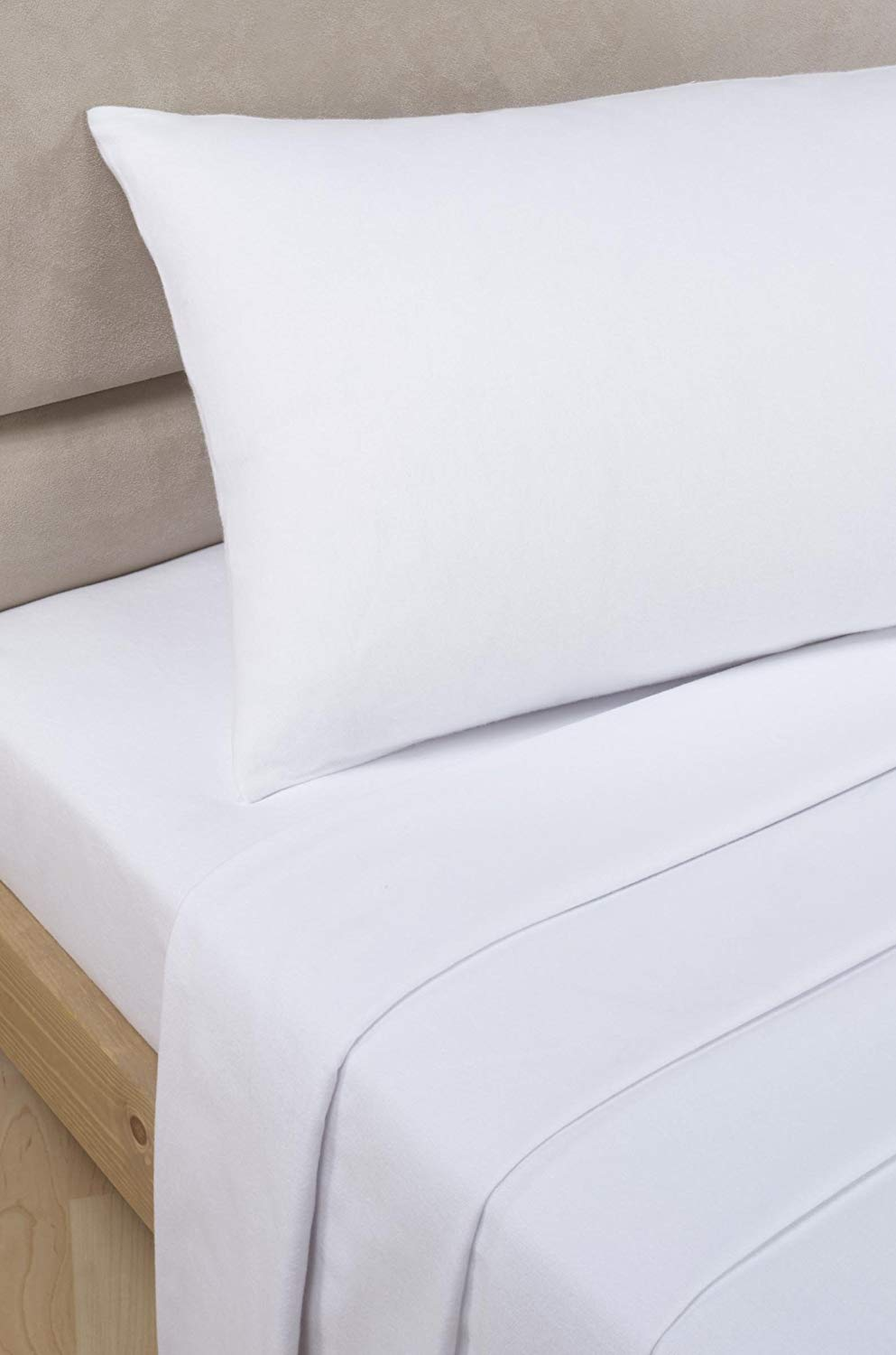 "Extra Deep (16""), 200 Thread Count Egyptian Cotton Fitted Bed Sheet, by Viceroybedding (Double, White)"
