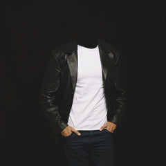 men leather blazer