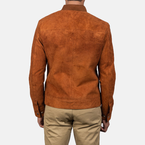 Blain Brown Suede Bomber Jacket