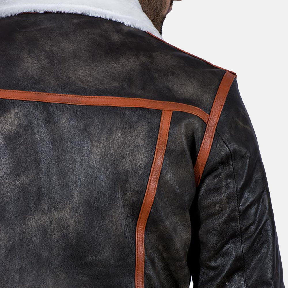 Alpine Brown Fur Leather Jacket