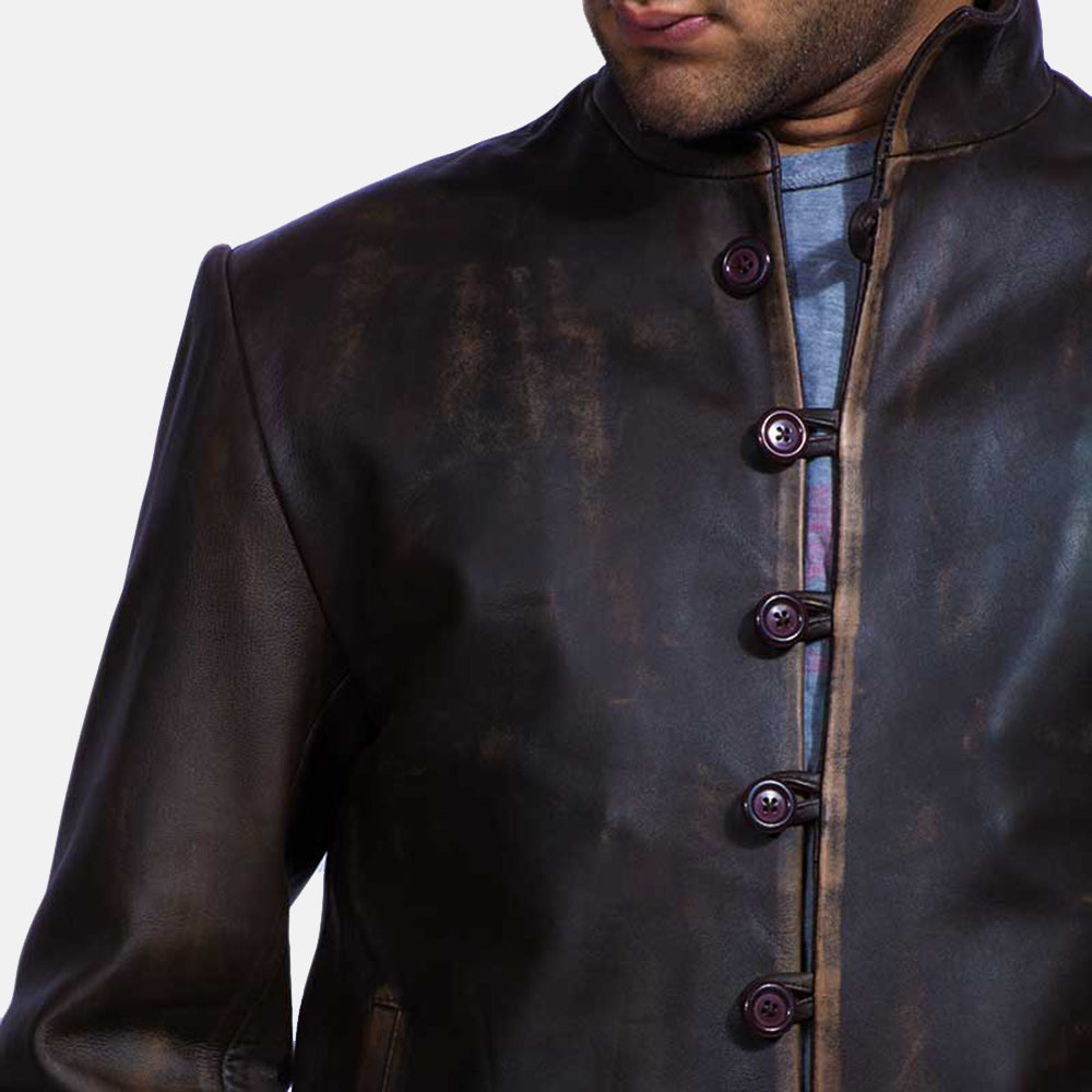 Drakeshire Brown Leather Jacket