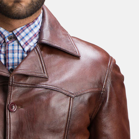 Vincent Alley Brown Leather Jacket