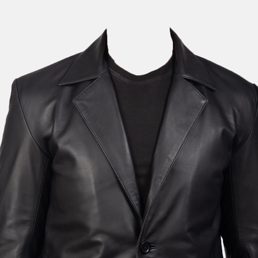 man leather blazer jacket
