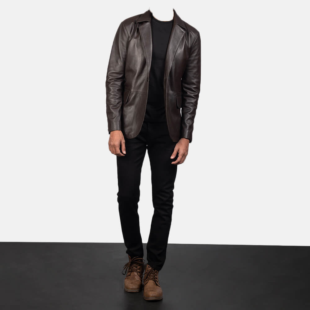 leather blazers mens