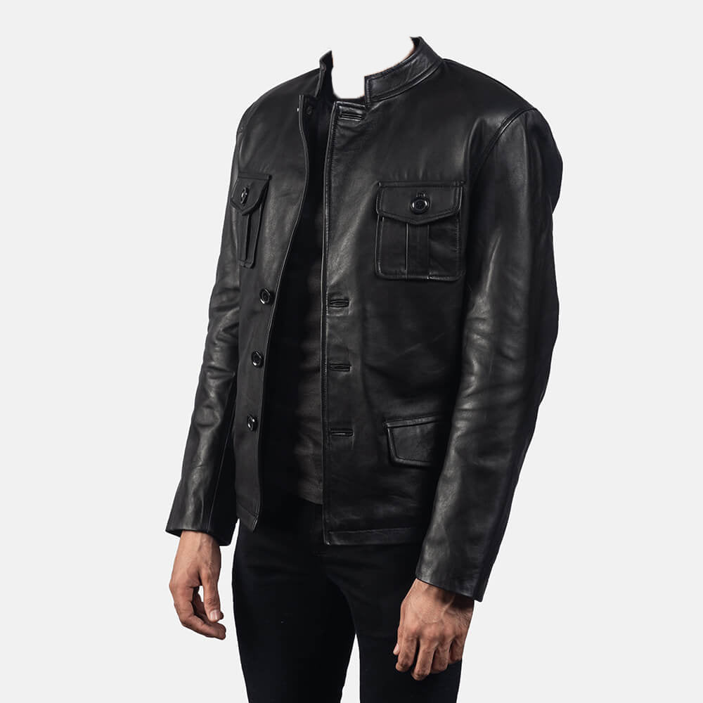 Ray Cutler Black Leather Blazer