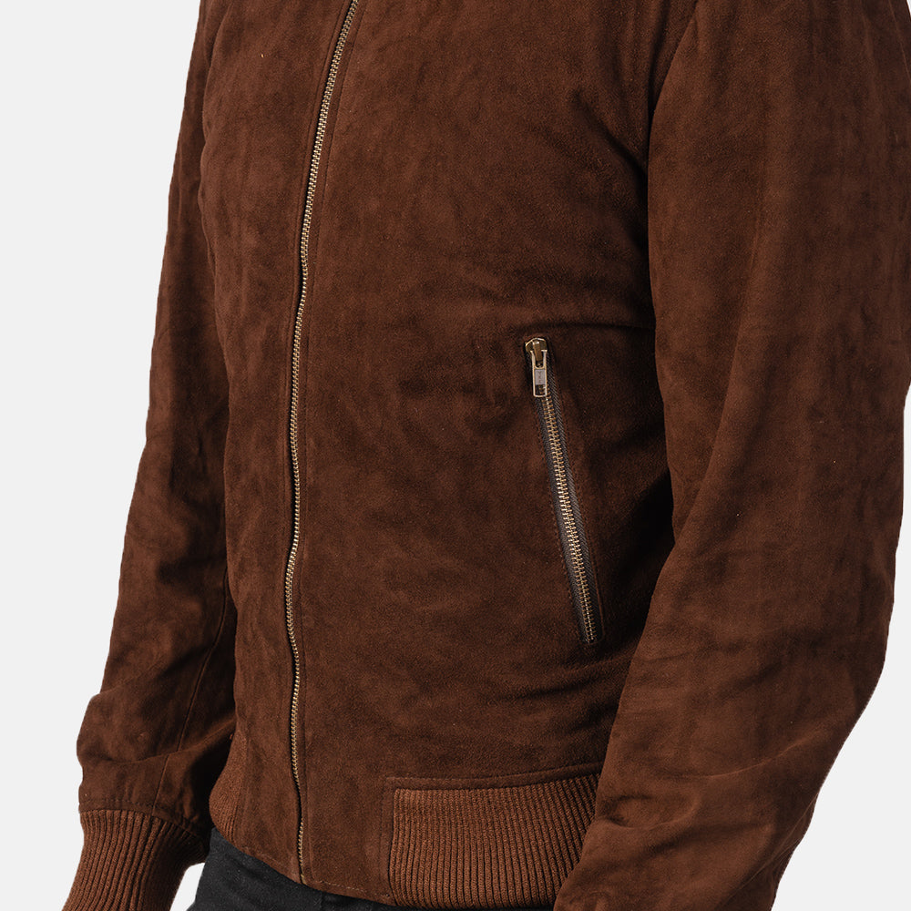 Alex Brown Leather Biker Jacket